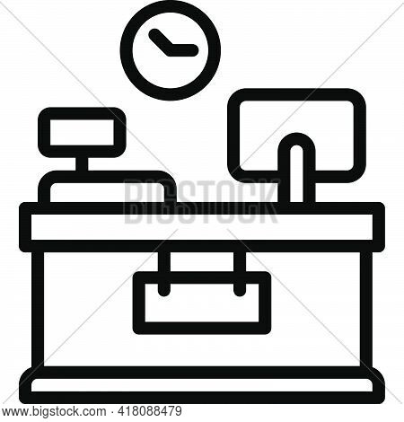 Office Desk Icon, Supermarket And Shopping Mall Related Vector Illustration