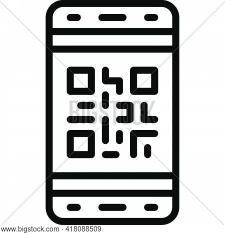 Qr Code Scan Icon, Supermarket And Shopping Mall Related Vector Illustration