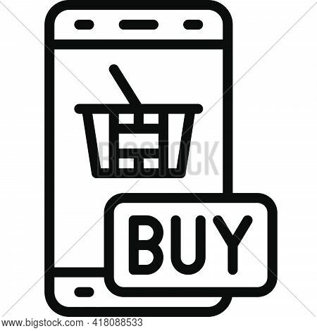 Online Shopping Icon, Supermarket And Shopping Mall Related Vector Illustration