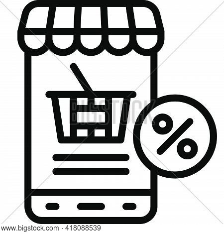 Online Store Icon, Supermarket And Shopping Mall Related Vector Illustration