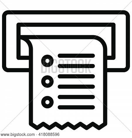 Receipt Icon, Supermarket And Shopping Mall Related Vector Illustration