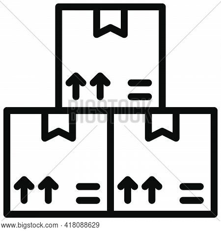 Boxes Icon, Supermarket And Shopping Mall Related Vector Illustration