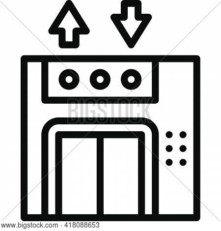 Elevator Icon, Supermarket And Shopping Mall Related Vector Illustration