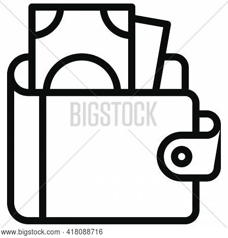Wallet Icon, Supermarket And Shopping Mall Related Vector Illustration