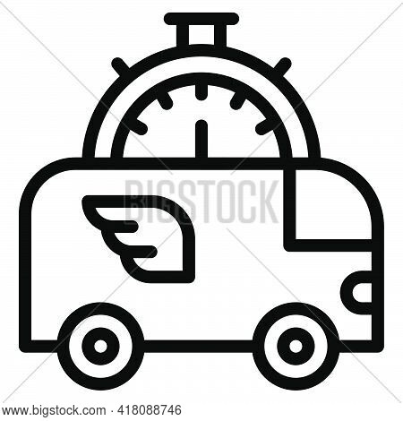 Delivery Van Icon, Supermarket And Shopping Mall Related Vector Illustration