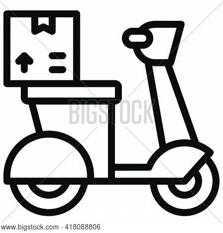 Motorcycle Icon, Supermarket And Shopping Mall Related Vector Illustration