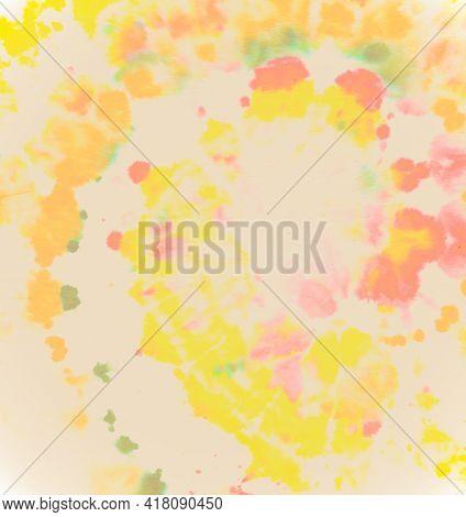 Pastel Spiral Tie-dye. Abstract Swirl Texture. Color Print. Watercolor Cool Design. Tie Die Art Back