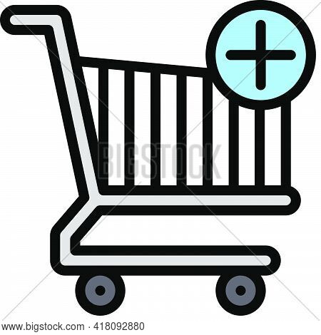 Add To Cart Icon, Supermarket And Shopping Mall Related Vector Illustration