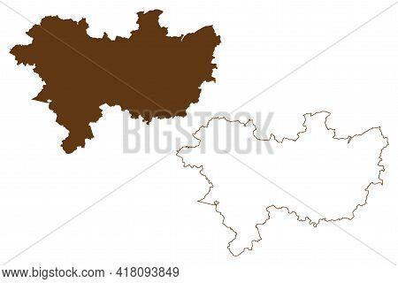 Wetteraukreis District (federal Republic Of Germany, Rural District Darmstadt Region, State Of Hesse