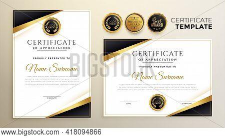Modern Certificate Of Appreciation Template For Multipurpose Use