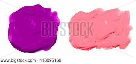 Thick Paint Brush Stroke Watercolor Texture Set