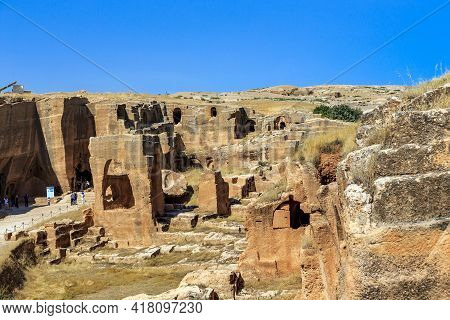 Dara, Turkey - October 11, 2020: This Is An Archaeological Site Of An Ancient Necropolis Located In