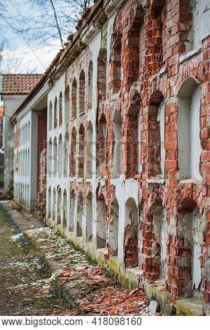 Vilnius, Lithuania - April 10, 2021: Ancient Columbarium In The Bernardine Cemetery, One Of The Thre