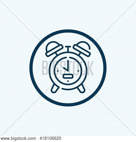 Alarm Clock Icon Isolated On White Background. Alarm Clock Icon Thin Line Outline Linear Alarm Clock