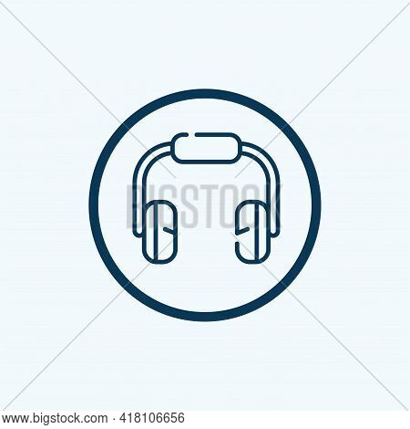 Headphone Icon With Soundwave. Headphone Icon With Soundwave Vector. Headphone Icon Isolated On Whit