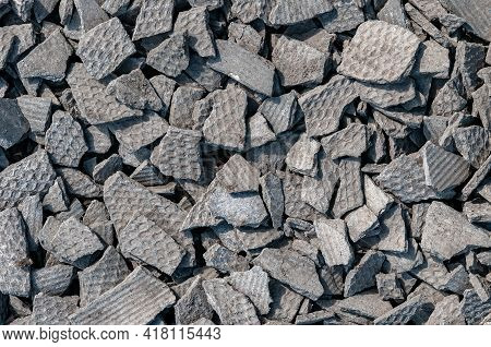 Slate Texture, Roof Splinters Asbestos Cement Sheets, Corrugated Slate