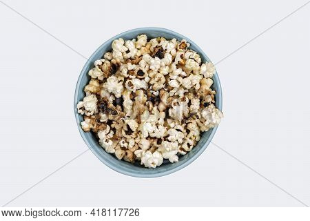 Burnt Popcorn. Not Tasty Food, Harm To Popcorn, Spoiled Food, Corn.