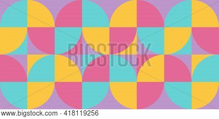 Geometry Minimalistic Artwork Poster With Simple Shape. Abstract Vector Pattern Design.