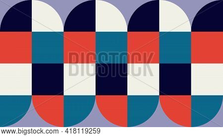 Geometry Minimalistic Artwork Poster With Simple Shape. Abstract Vector Pattern Design.geometry Mini