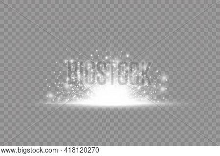 Star Explosion, White Glow Lights Sun Rays.