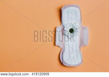 Concept Of Womens Health. Menstruation. Woman Gasket On Beige Background.