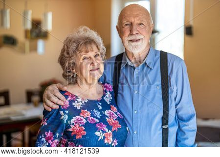 Portrait of a happy senior couple spending quality time together at home