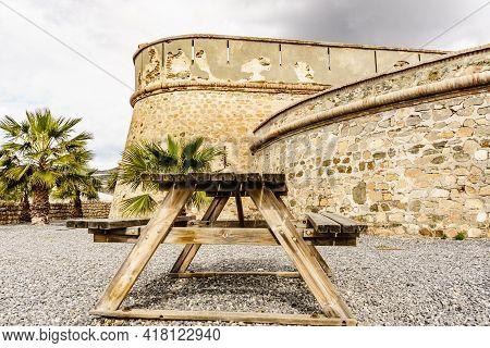 Coastal Fortification, Castle Carchuna, Granada Province, Andalusia Spain. Tourist Attraction
