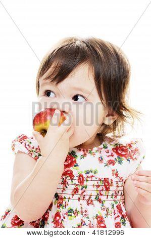 Biting Red Apple