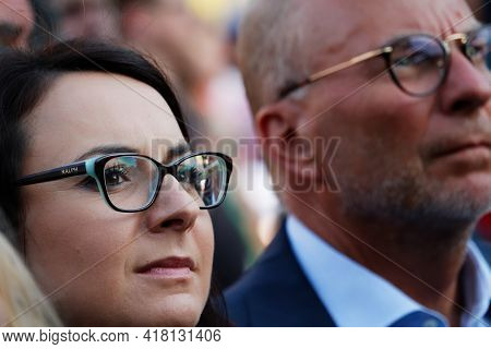 Warsaw/poland - July 4, 2018: Kamila Gasiuk-pihowicz - Polish Politican, Member Of Nowoczesna Party,