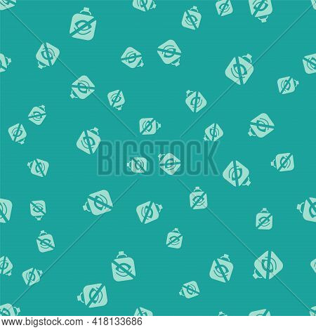 Green Blindness Icon Isolated Seamless Pattern On Green Background. Blind Sign. Vector