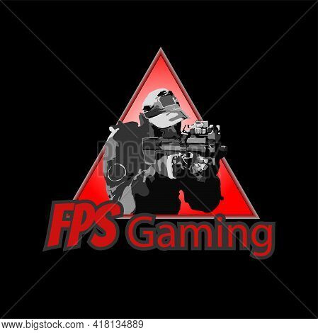 Illustration Vector Graphic Of Fps Shooter Game Logo