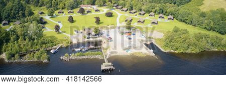 Caravan Site Park And Holiday Homes Aerial At Loch Tay