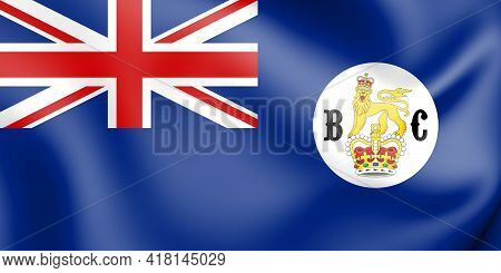 3d Flag Of Colony Of British Columbia. 3d Illustration.