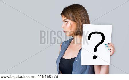Woman Screaming, Emotion. Girl Question. Female With Question Marks. Getting Answers. Question Mark,