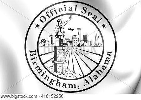 3d Seal Of Birmingham (alabama), Usa. 3d Illustration.