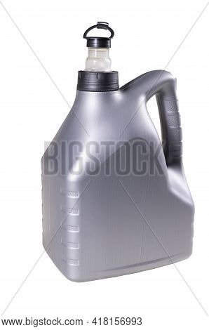 Plastic Canister For Passenger Car Oil. Plastic Container For Storing Chemicals.