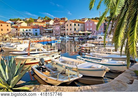 Village Of Sali On Dugi Otok Island Colorful Harbor View, Dalmatia Archipelago Croatia