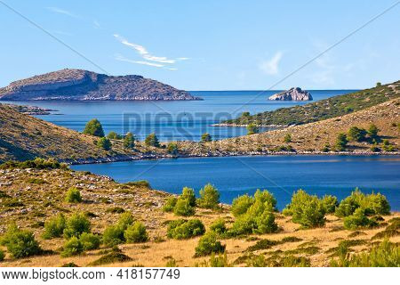 Amazing Kornati Islands National Park Archipelago Landscape View, Landscape Of Dalmatia, Croatia