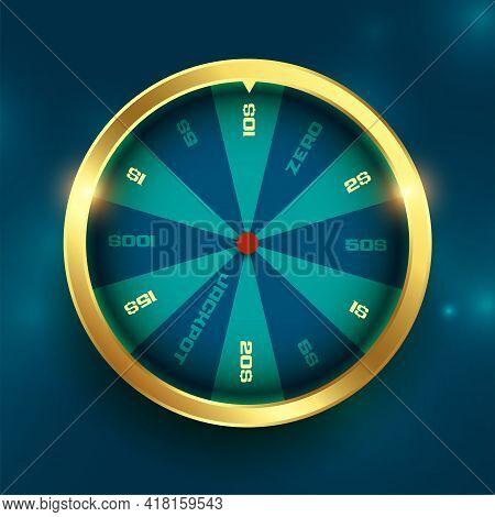 Golden Wheel Of Fortune Luck Spin Background Design Vector Illustration