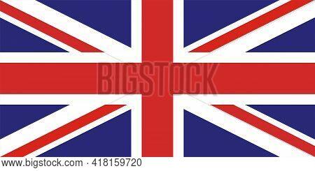 Flag Of The United Kingdom. Symbol Of Kingdom