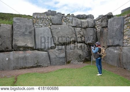 Sacsayhuaman Ruins,cuzco, Peru.\nfortress Sacsayhuaman - The Last  Stronghold Of The Incas In The No