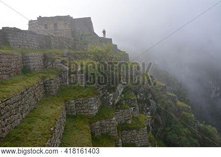 Machu Picchu  - The Lost City Of The Incas, Peru. Machu Picchu - The Ancient Inca City, Located On T