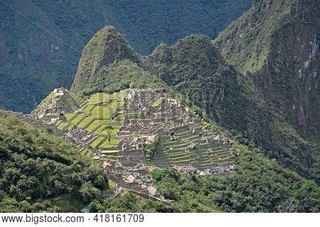 Machu Picchu - The Lost City Of The Incas, Peru. Machu Picchu, View From Road Of Incas.
