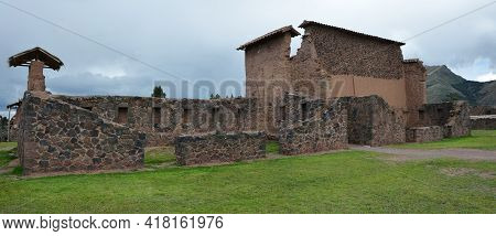 The Inka Site At Raqch'i. Peru. Raqch'i Is An Inca Archaeological Site In Peru Located In The Cusco
