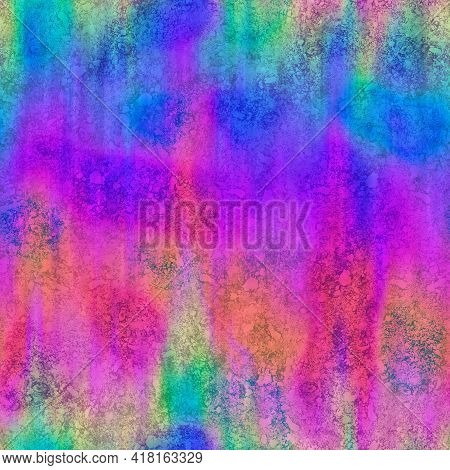 Seamless Oil Slick Rainbow Spectrum Grungy Shiny Surface Pattern For Print