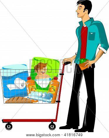 Customer In A Supermarket