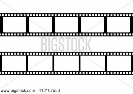 Film Strip Icon Isolated On Transparent Background. Tape Photo Film Strip Frame, Video Film Strip Ro