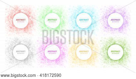 Colorful Light Abstract Circles Frames. Labels For Cosmetics, Soap, Shampoo, Perfume, Medicament Lab