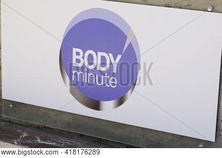Bordeaux , Aquitaine France - 04 22 2021 : Body Minute Logo Text And Brand Sign Body'minute Beauty S