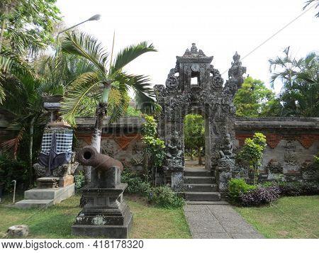 Denpasar, Indonesia - October 18, 2019 : Balinese Garden At Bali Museum.